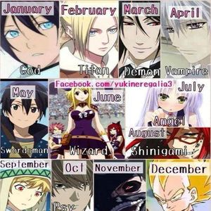 mine is angel, whats yours? Anime birthday game