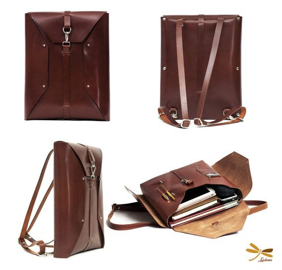 Great backpack to easily carry your computer, papers, ect. Crafted in premium leather. Each day will be more beautiful with use. Dimensions: 14.96 inches tall (38 cm) 12.99 inches wide (33 cm) 2.36 inches deep (6 cm) Need a larger or smaller bag? We can do that as well. Please contact us for more information. Handmade in Spain. Leather color: Color and quality of leather will be as close as possible to the one in the picture, however leather shade may vary throughout the hide sl...