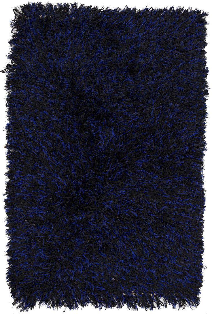 3x4 Blue Shag Rug