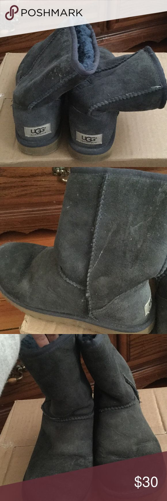 USEDDD navy blue UGGS! 30$ or best offer! USEDDD condition! Lots of creases and stains! UGG Shoes Winter & Rain Boots