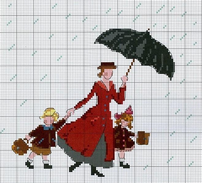 Mary Poppins cross stitch