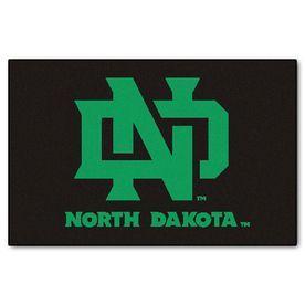Fanmats University Of North Dakota Rectangular Indoor Machine-Made Sports Throw Rug (Common: 1-1/2 X 2-1/2; Actual: 1.58