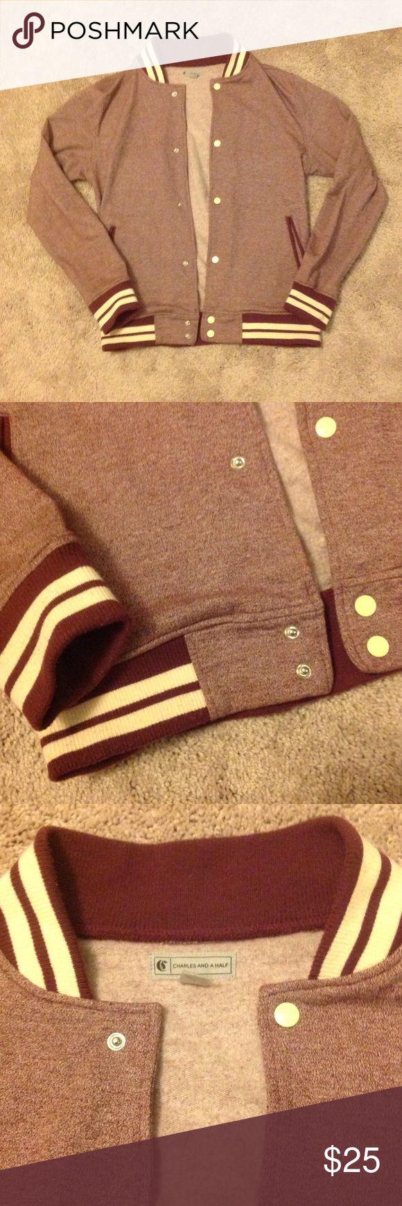 Varsity Jacket Burgundy varsity jacket. Comfortable and soft af. Charles And A Half Shirts Sweatshirts & Hoodies