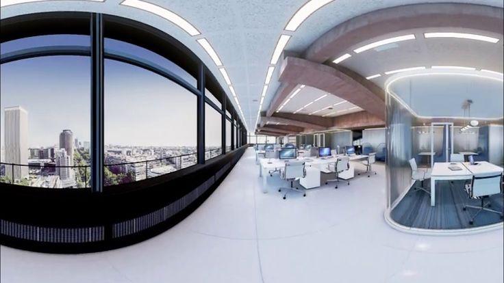 Recorrido de realidad virtual del #edificio #Castellana 81 para #gafas #madrid #grupogmp #arquitectura #alquileroficinas