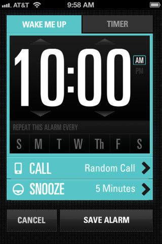 Jimmy Fallon's Wake Up Call app | Design: Sparklefarmer, Inc