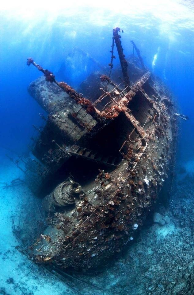 Shipwreck in the northern Red Sea, Egypt. The best place to see how underwater treasures are explored is the Museum of Subaquatic Archeology ARQVA in #Cartagena, Murcia, Spain. http://en.museoarqua.mcu.es/index.html.