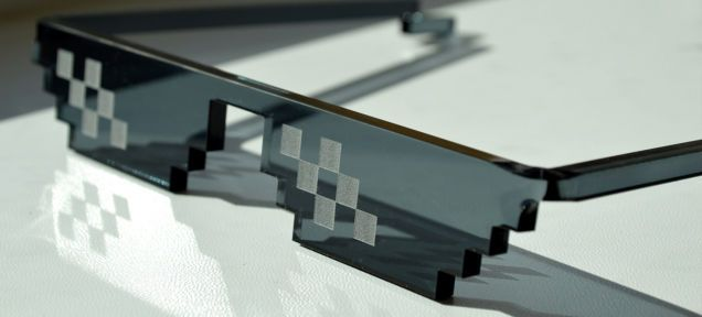 The Deal With It Sunglasses by CNC Design is Playful and Techy #menswear #fashion trendhunter.com