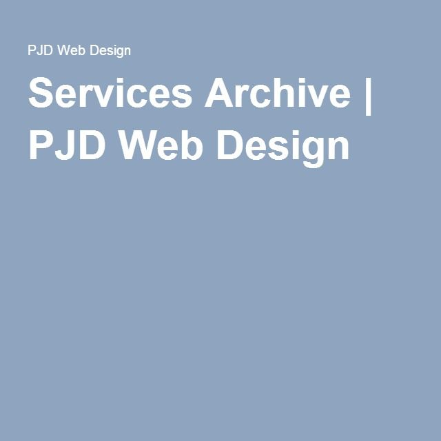 Services Archive | PJD Web Design