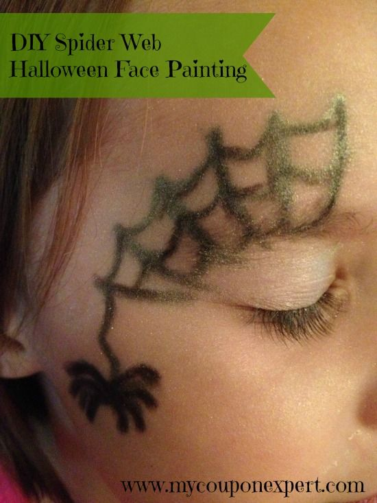 Face Painting Friday: DIY Spider Web Halloween Face Painting