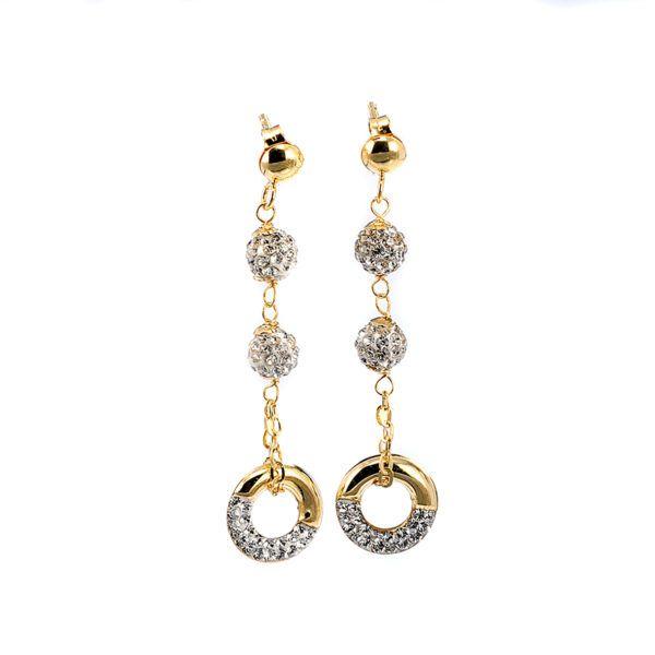 Σκουλαρίκια κρεμαστά χρυσό Κ14 -7011