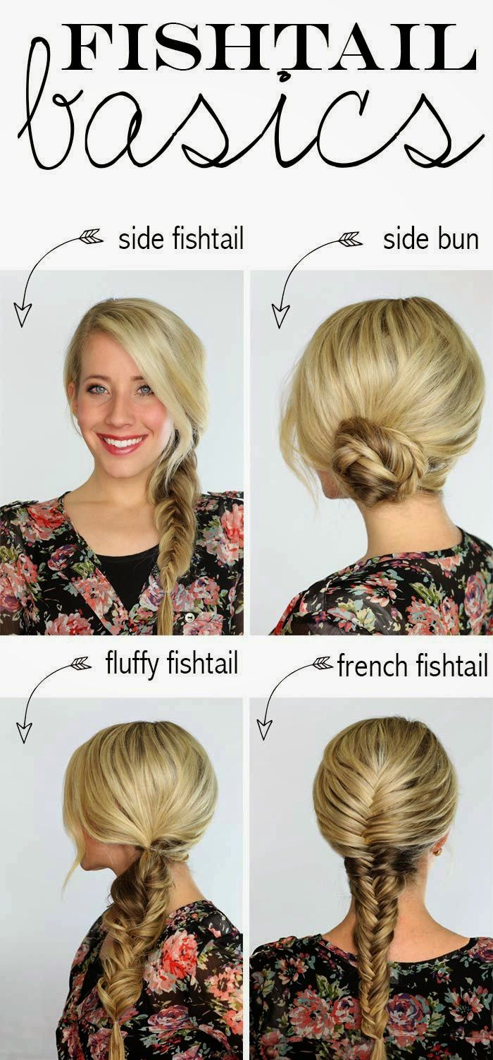 Four basic fishtail hairstyles that'll get you through the summer | Daily New Fashion