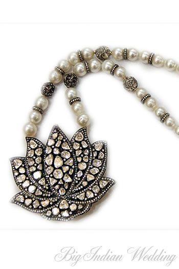Amrapali lotus-inspired necklace