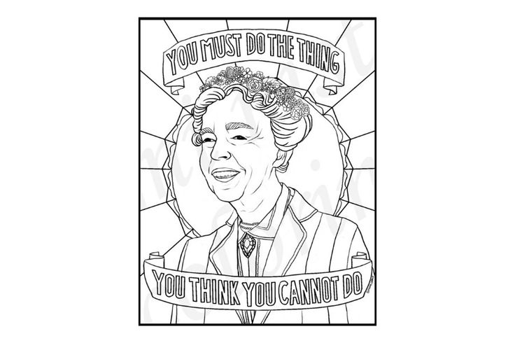 We tracked down 16 of the very best famous women coloring pages of American leaders + pioneers of all kinds, to help get conversations going with the kids.