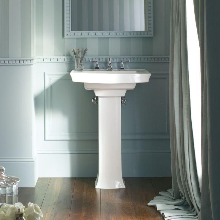 Kohler archer pedestal bathroom sink set bathroom for American classic guest house nye beach