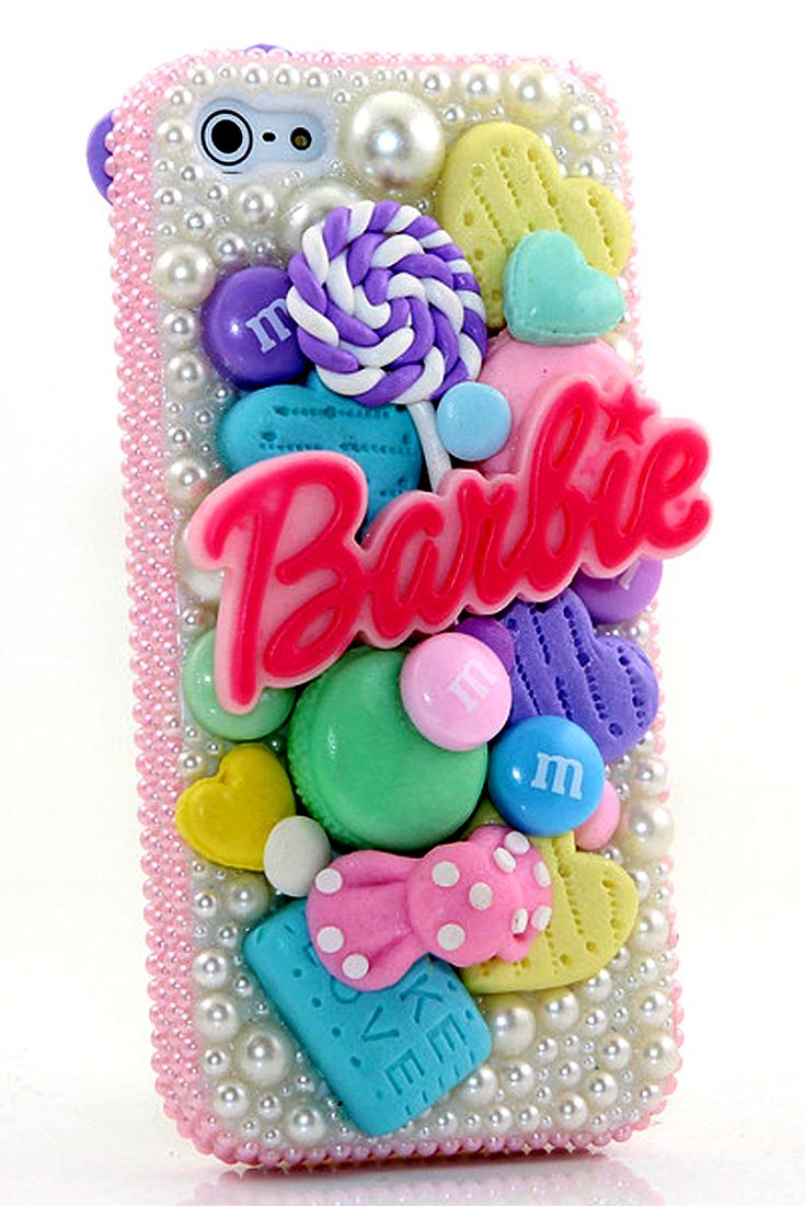 Bubbly Barbie Design iPhone 5 5c 5s Case glitter disney waterproof for Girl's fashion