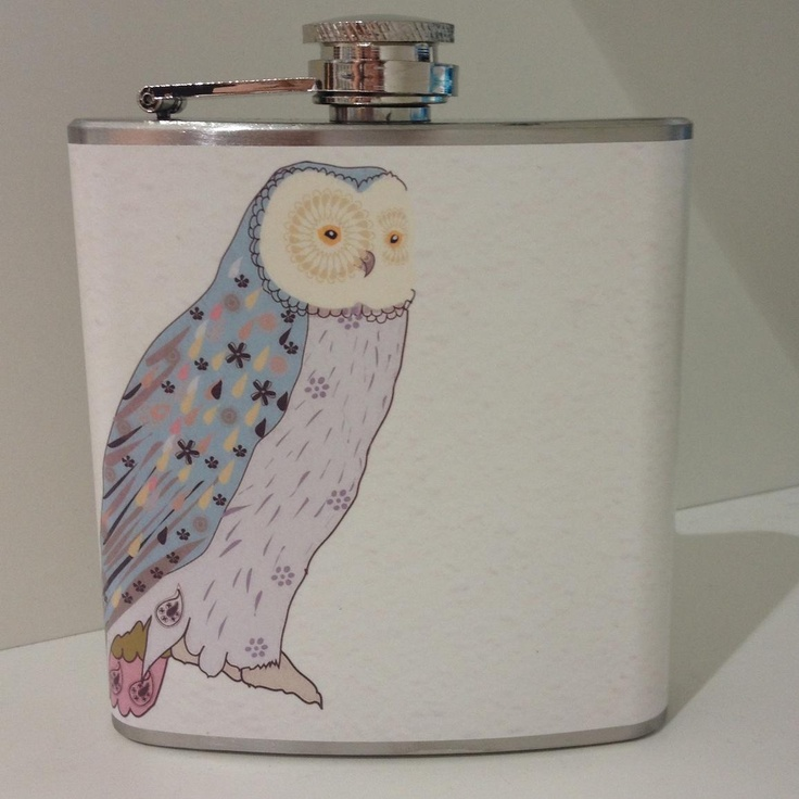Whimsy & Ink Owl Hip Flask $39