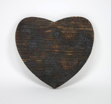 """Saatchi Art Artist Dennis Happé; Sculpture, """"Burned heart"""" #art"""