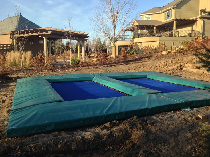 Side by side in ground trampolines.  Check us out at maxairtrampolines.com!