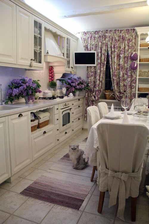 Проект кухни в стиле прованс.