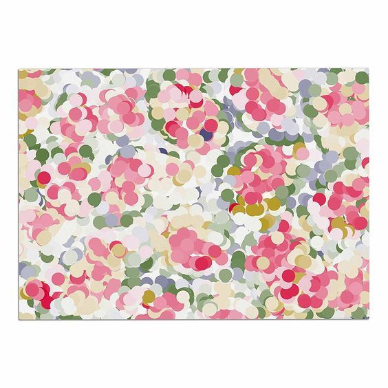 KESS InHouse Matthias Hennig 'Soft Dots' Pink Floral Dog Place Mat, 13' x 18' -- Check this awesome image  : Dog food container