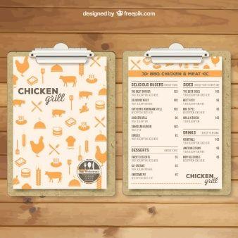 Modelo de menu Grill