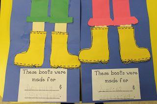 Mrs. Lee's Kindergarten: Morning Centers this week & Weather Activities; rain boots