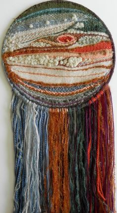 weaving horizontally in a hoop wall hanging - Google Search