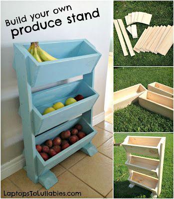 Simple DIY produce stand // LaptopsToLullabies.com                                                                                                                                                                                 More