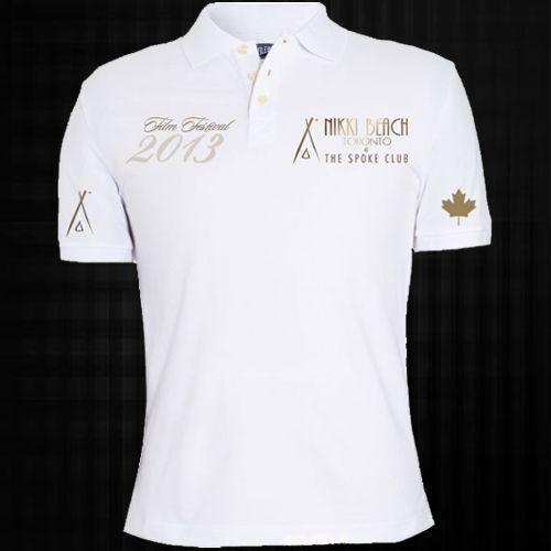 Nikki beach polo shirts front screen printing t shirts for Screen printing polo shirts