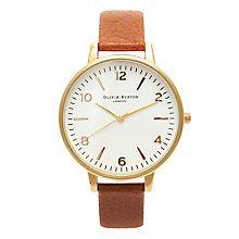 Buy Olivia Burton Women's Modern Vintage Leather Strap Watch Online at johnlewis.com