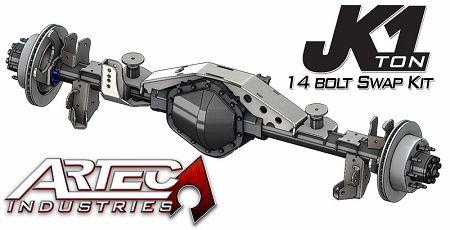 Artec JK 1 TON - Rear 14 bolt Swap Kit