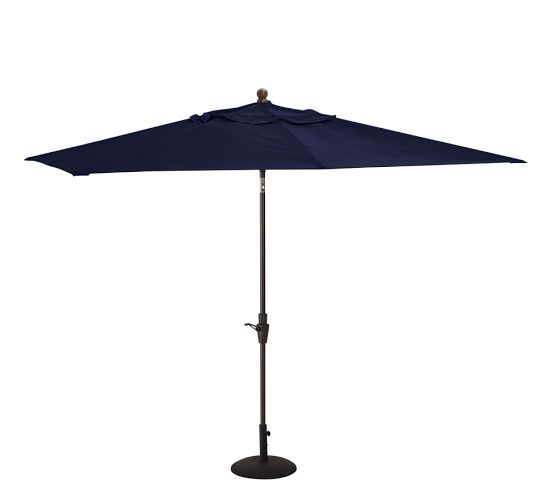 Sunbrella Rectangular Umbrella With Aluminum Tilt Pole