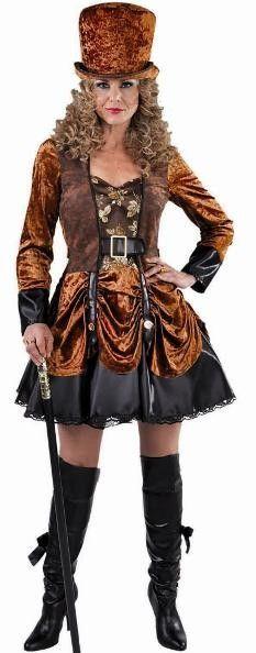 Costume Victorien Steampunk femme qui comprend la robe Steampunk