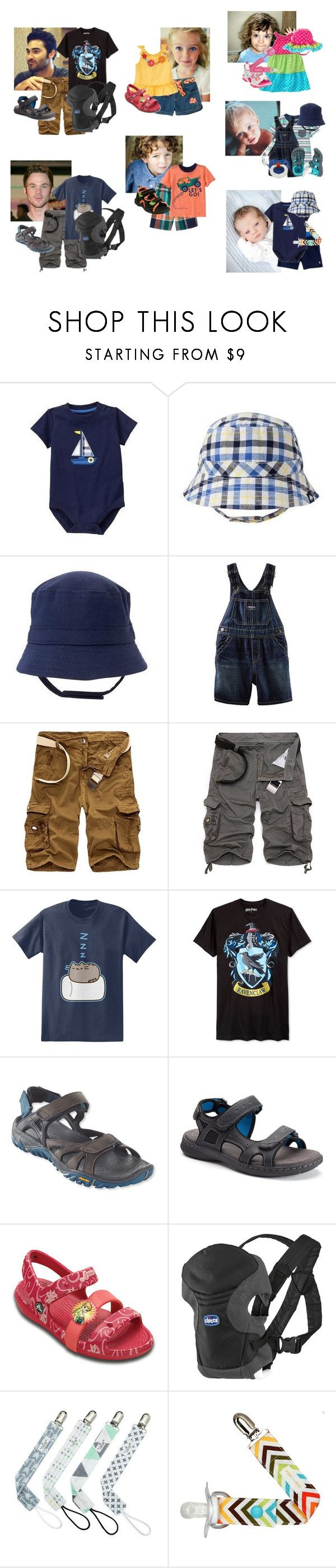 """""""Adoption Party BBQ Outfits"""" by hufflepuffdeatheater ❤ liked on Polyvore featuring Gymboree, Ralph Lauren, Pusheen, Bioworld, Merrell, Croft & Barrow, Disney and CHICCO"""