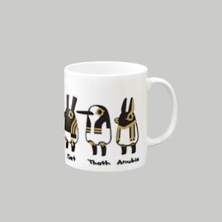 とーとつにエジプト神 名前つき 7柱 Mugs