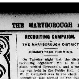 ROGERS, W. (William Lynton). On committee for war recruiting. Maryborough and Dunolly Advertiser, 12 Feb 1917, p. 4, Recruiting campaign.