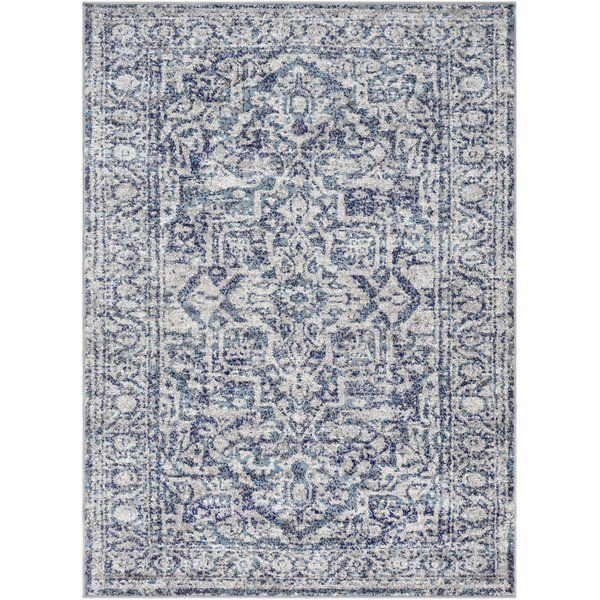 Their Piece Features A Marvelous Pattern And Design That Will Easily Bring Your Space Into The New Age Of Fashion And De Blue Grey Rug Area Rugs Blue Area Rugs