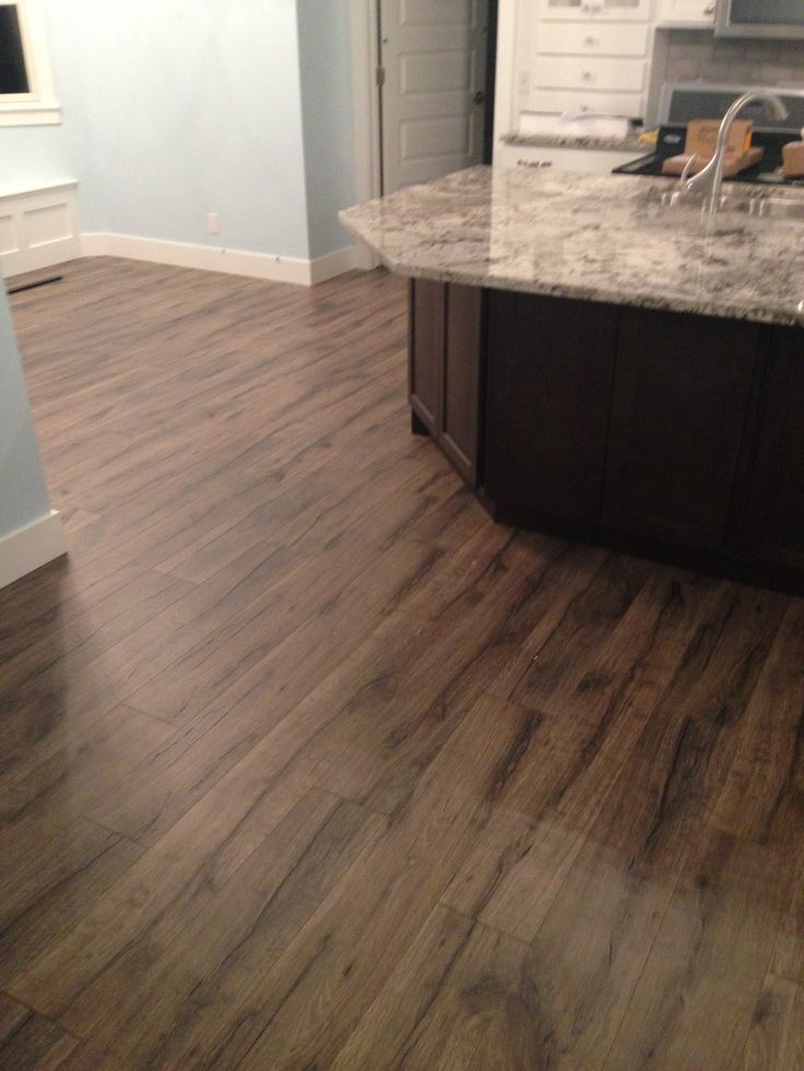 New kitchen remodel featuring quick step heathered oak for Quickstep kitchen flooring