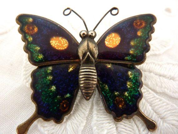 Butterfly Brooch by BonniesVintageAttic on Etsy, $10.00