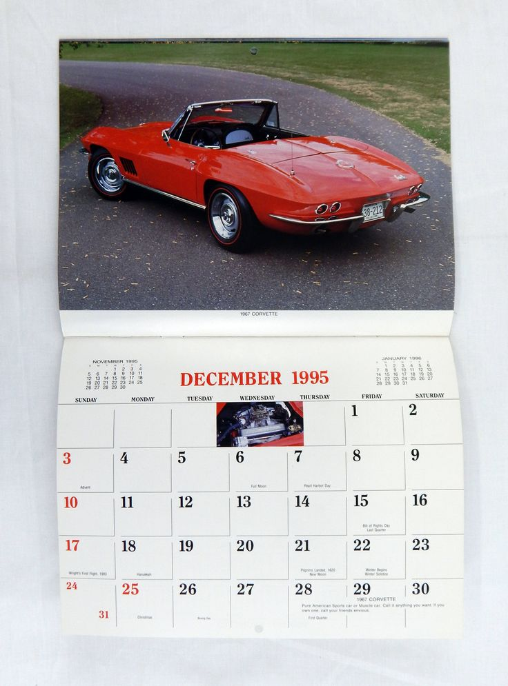 Vintage 1995 2023 Classic Muscle Cars 13 Month Appointment