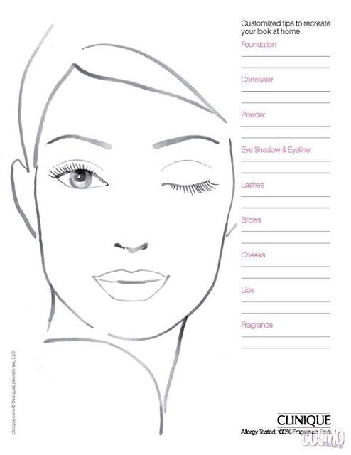 50 best blank face charts images on pinterest face template