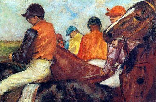 """""""Jockeys"""" by Edgar Degas"""