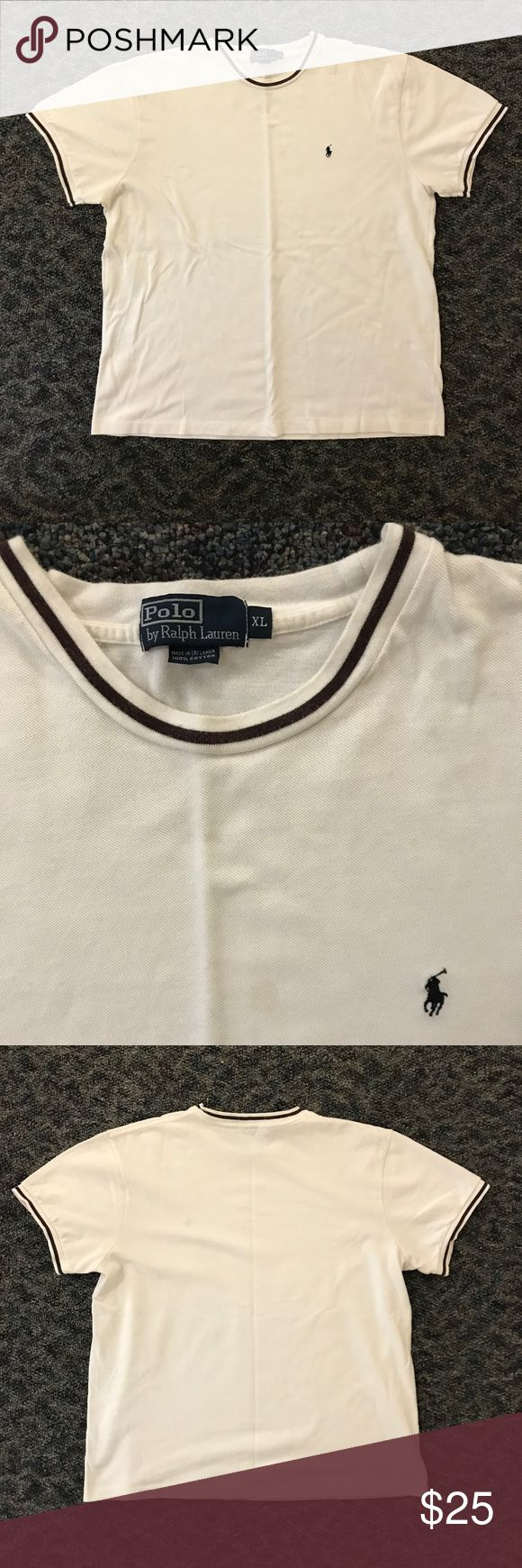 Polo Ralph Lauren Shirt *Message Me For First Buyer's Discount*  Polo shirt with rim design on collar and sleeves. Small stain on the front. One of a kind Polo piece!  IGNORE TAGS: MOSSIMO SUPPLY CO., VANS, ADIDAS, NIKE, VINTAGE VINEYARDS, STARTER, CONVERSE, AIR JORDAN, J. CREW, TOMMY HILFIGER, THE NORTH FACE, DITCH PLAINS, CHAMPION, LACOSTE, BLAC LABEL, RALPH LAUREN, REEBOK, OLD NAVY, AMERICAN APPAREL, NAUTICA, ABERCROMBIE & FITCH, OBEY, FOREVER 21, SKULLCANDY, SUPREME, PACSUN, POLO, LEVI'S…