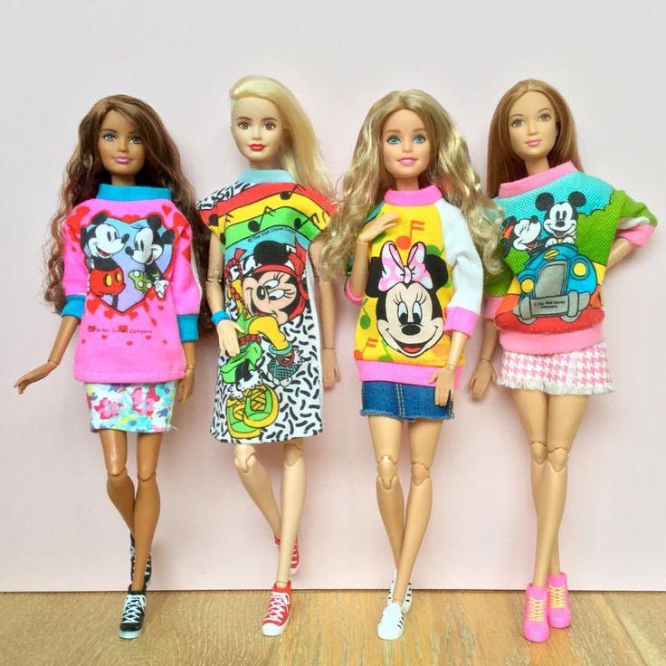 962 отметок «Нравится», 32 комментариев — Emily Polak (@emilypm3) в Instagram: «Disney loving dolls!  Dolls wearing vintage #shillman 'Mickey & Pals' doll fashion from the late…»