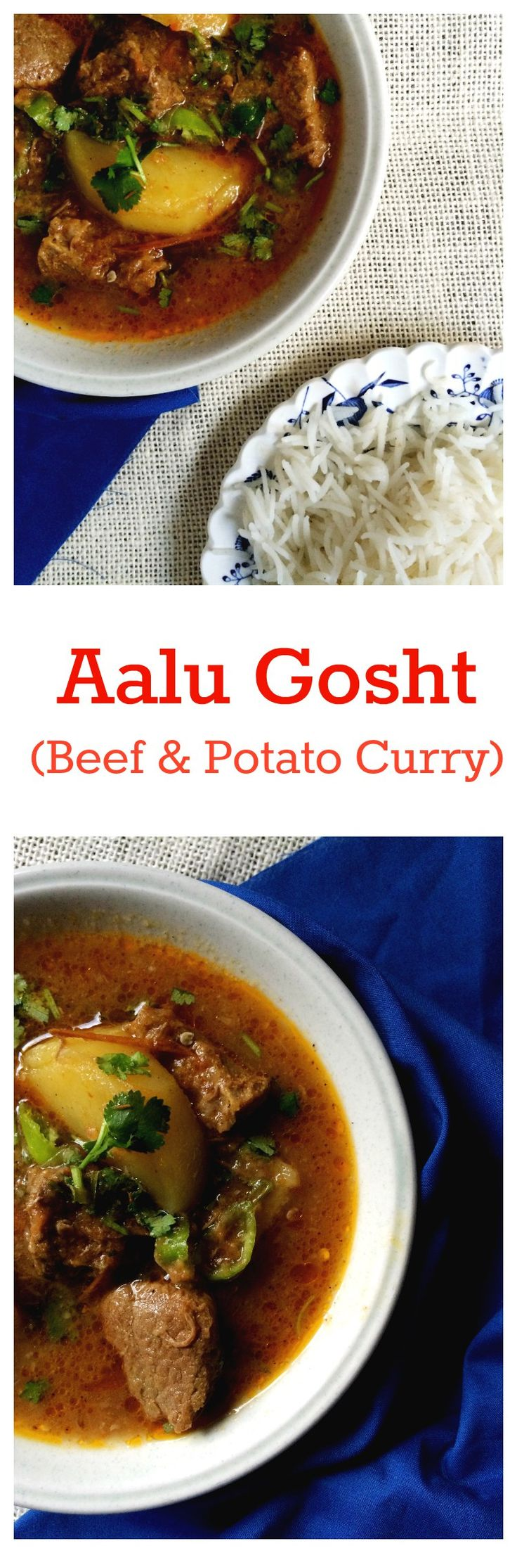 A simple but delicious version of the Pakistani classic dish Aalu Gosht ka Salan