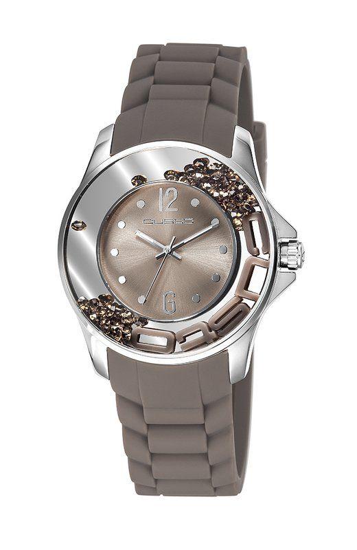 #Reloj #Custo para mujer en gris topo
