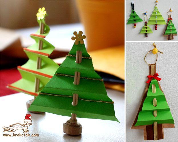 Bri-coco de Lolo: Arbres de Noël en accordéon