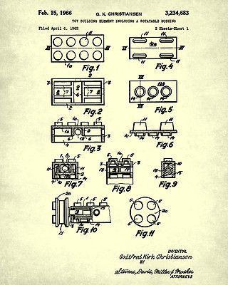 Mejores 139 imgenes de lego pared en pinterest edificio de lego lego patent prints building blocks blueprint wall art lego posters home decor malvernweather Images