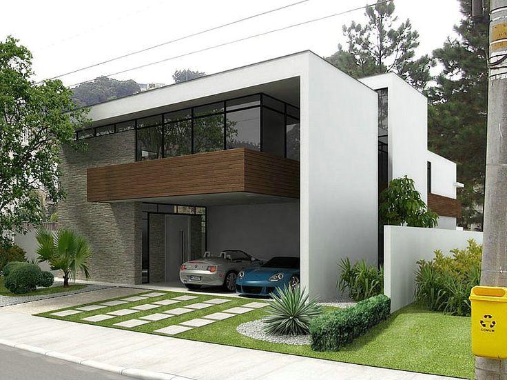 1000 imagens sobre fachadas modernas no pinterest house for Casa moderna de 7 00m x 15 00m