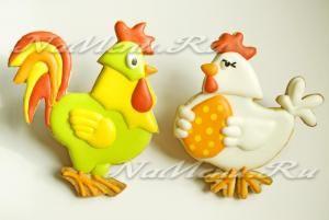 рецепт Пасхального печенья «Петух и курочка»
